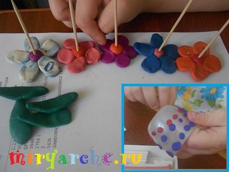 цветы из пластилина 1