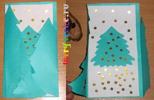 сделать красивые открытки с новым годом рождеством