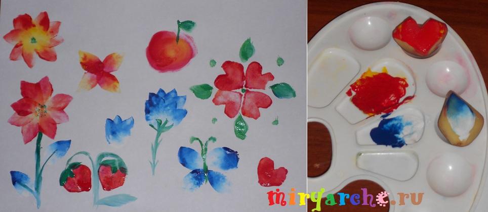 Рисуем отпечатками