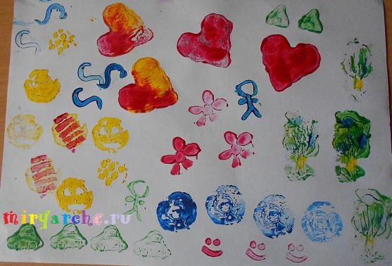 Рисуем отпечатками 2