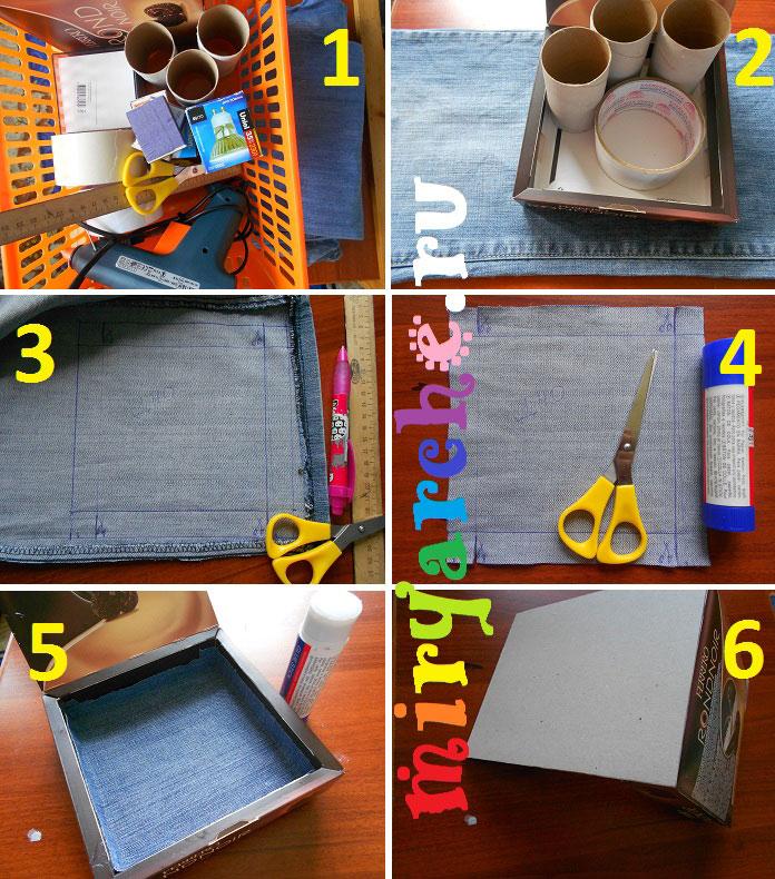 Делаем карандашницу из подручных материалов