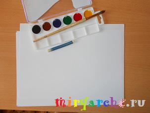 простые рисунки для детей акварельными красками