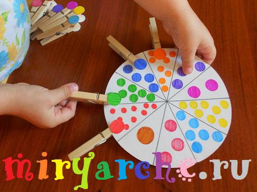 раннее развитие изучаем цвета