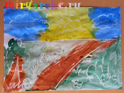 рисунки акварелью с детьми