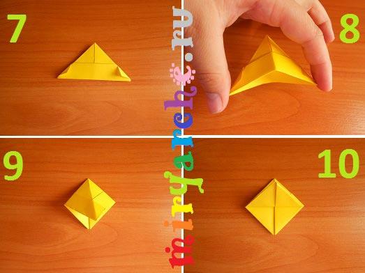 лодка оригами