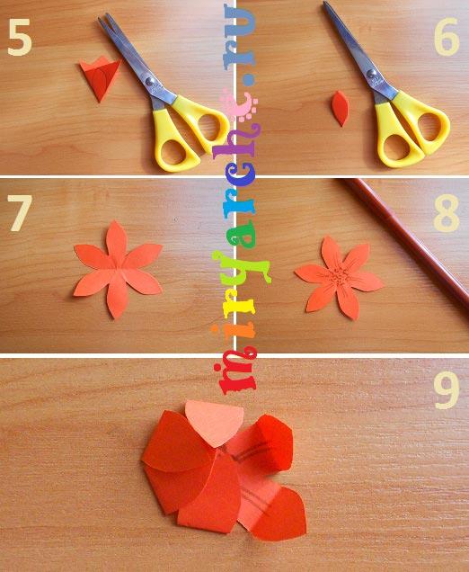 цветок кувшинка из бумаги