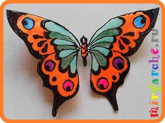Бабочки на улицу своими руками