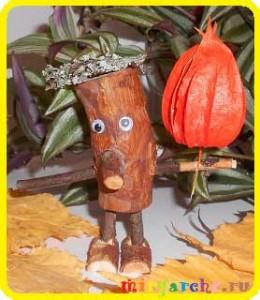 старичок-лесовичок своими руками из природного материала