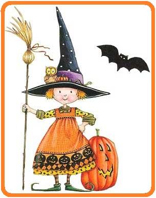 ведьма, ведьмочка, тыква, хеллоуин