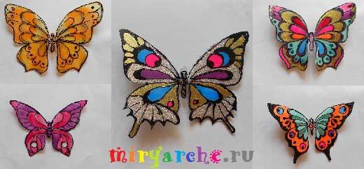 Бабочки делаем своими руками
