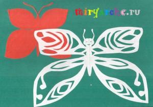 как правильно вырезать красивую ажурную бабочку