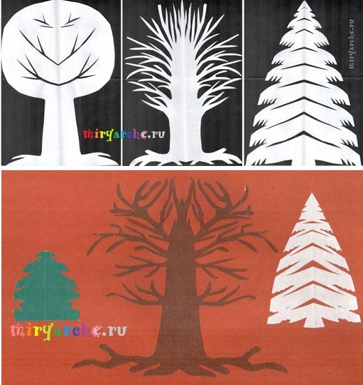 Дерево из бумаги схема