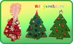 магнитик елочка в подарок на рождество