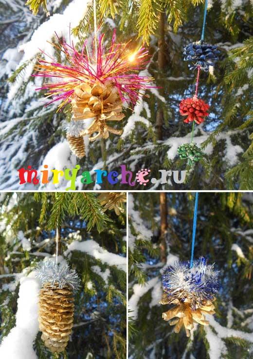 оригинальные новогодние украшения своими руками