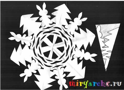 схема снежинки
