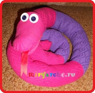 детская мягкая игрушка змея своими руками