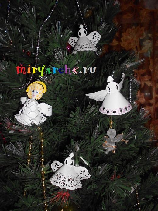поделка рождественский ангел своими руками