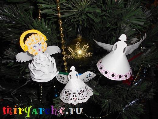 Как сделать рождественских ангелов своими руками из