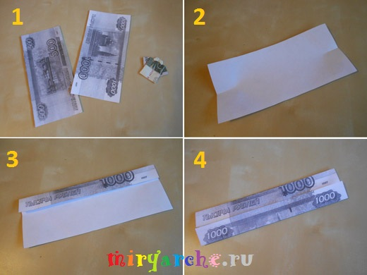 оригами рубашка из долларовой купюры
