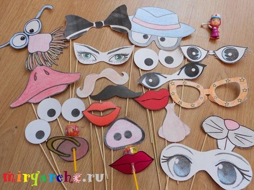 Как сделать маски для детей. Фото. Шаблоны. МК - Своими руками 24