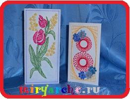 открытки изонить схемы