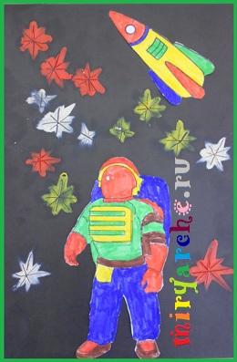 поделка ракета и космонавт из бумаги и пластилина своими руками