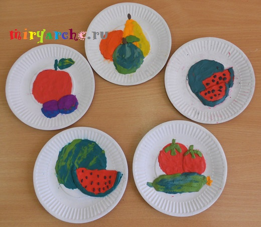 лепим овощи и фрукты из пластилина