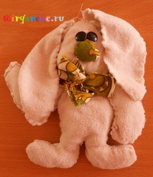 мягкая игрушка своими руками зайчик