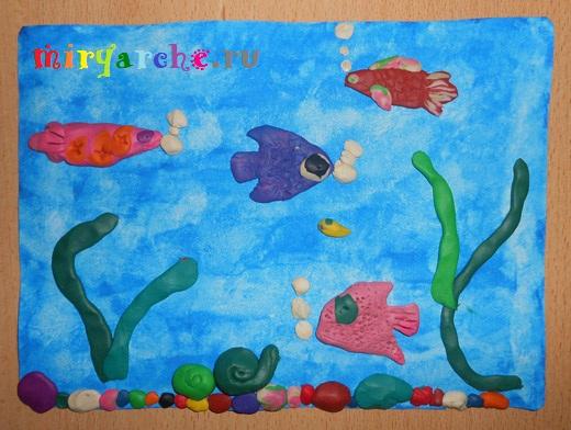 подводный мир из пластилина