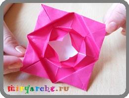 оригами схемы для начинающих цветок роза