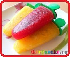 рецепт как сделать домашнее мороженое фруктовый лёд щербет сорбет