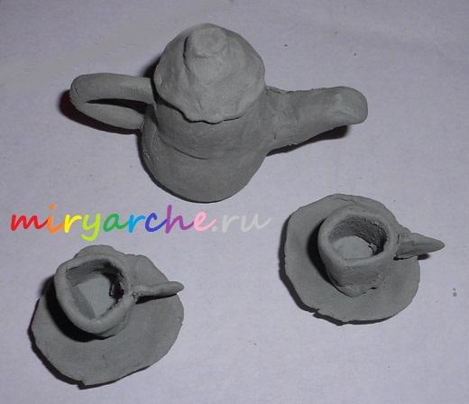 как лепить посуду из глины