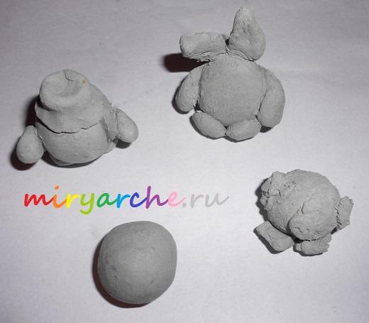 учимся лепить из глины