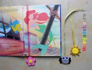 Закладки для книги из лент своими руками