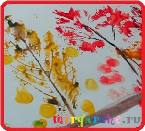как научить ребёнка правильно рисовать дерево красками