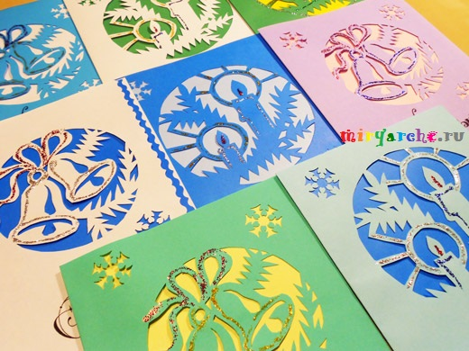 открытки на новый год и рождество своими руками
