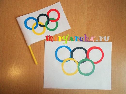 Поделки олимпийская символика