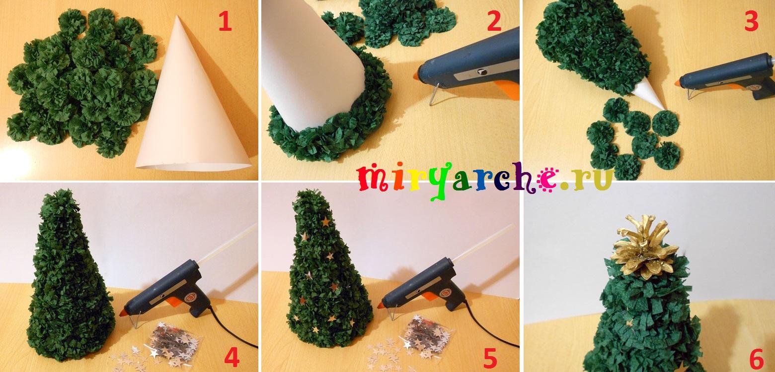 Как сделать елку из салфеток своими руками