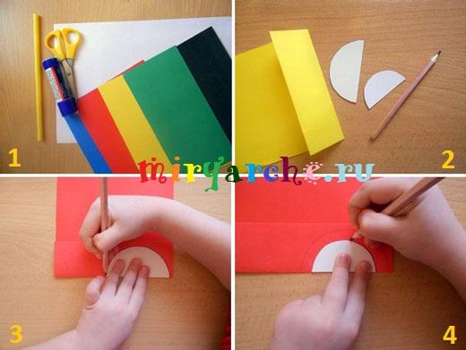 симметричное вырезание из бумаги