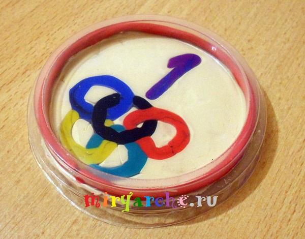 олимпийская медаль из пластилина своими руками