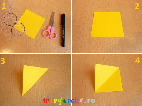 детская аппликация из цветной бумаги на тему лето