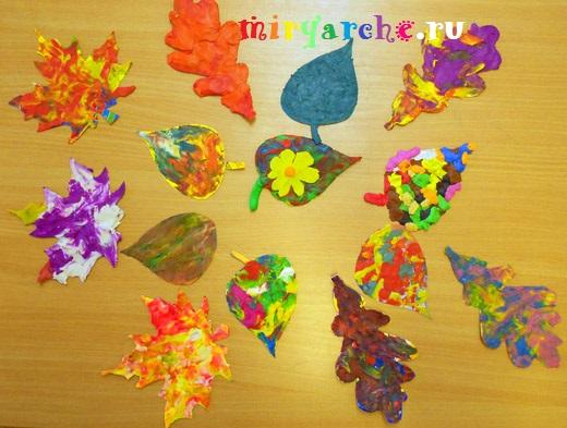 аппликация из пластилина на тему осень