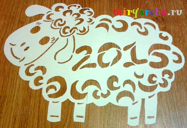 Новогодние символ 2015 своими руками