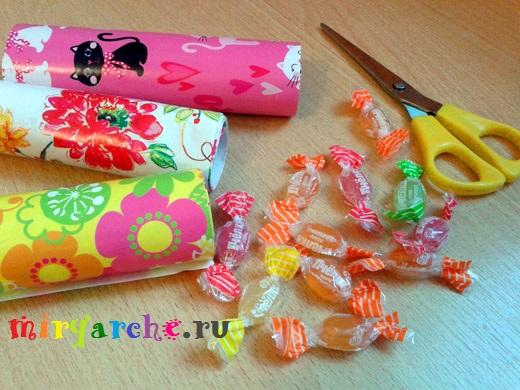 как делать валентинки своими руками из конфет