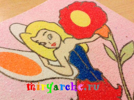 детские картины из цветного песка своими руками