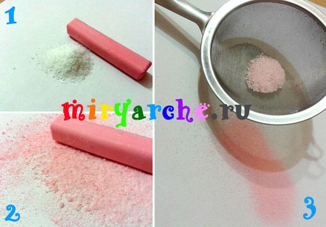 как окрасить соль своими руками